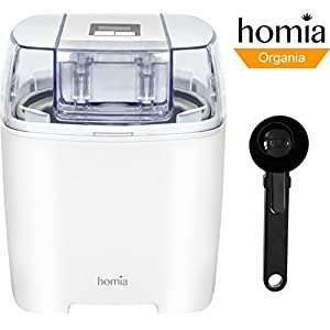 Ice-Cream Maker Machine Soft-Serve Electric - 1.58 Quart With Digital Timer And Free Scoop Spoon, Sorbet, Dessert and Frozen Yoghurt Maker, Makes Fresh Ice Cream at Home - Automatic