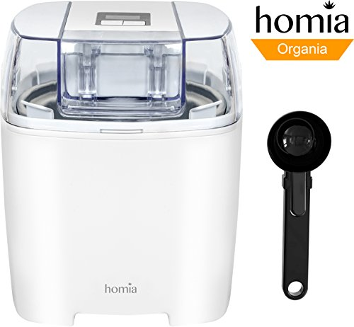 Ice-Cream Maker Machine 1.58 Quart With Digital Timer аnd Scoop Spoon, Soft-Serve Ice Cream, Sorbet, Dessert and Frozen Yoghurt Electric Maker, Makes Fresh Ice Cream at Home - Automatic