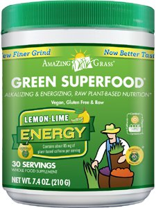 Amazing Grass GSF Lemon-Lime Energy Powder 30 Servings - Pack of 2 (Amazing Grass Energy Lemon Lime)