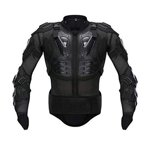 Motorcycle Riding Prtection Body Motocross Racing Body Armor Protective Spine Chest Guards Gear Black XL ()