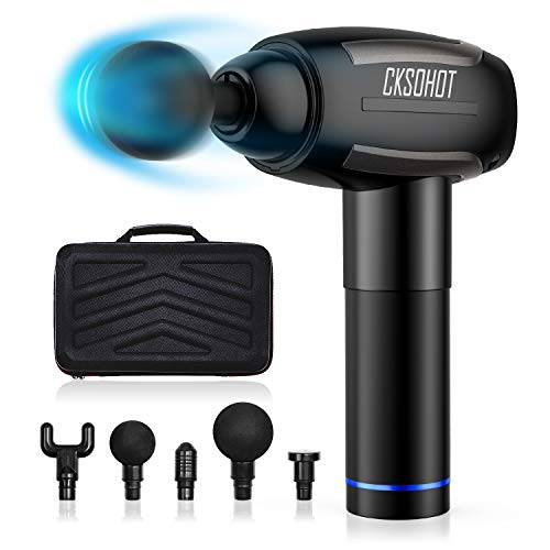 Awesome Muscle Massager CKSOHOT Massage Gun Deep Tissue Percussion Muscle Massager 6 Speeds Portable Super Quiet Brushless Motor Cordless Handheld Fascia Gun for Muscle Deep Relaxation with 6 Massage Heads and Carrying Case 2019