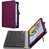 Fintie Folio Keyboard Case for Samsung Galaxy Tab A 10.5 2018 Model SM-T590/T595/T597 - Premium PU Leather Stand Cover with Removable Wireless Bluetooth Keyboard, Purple