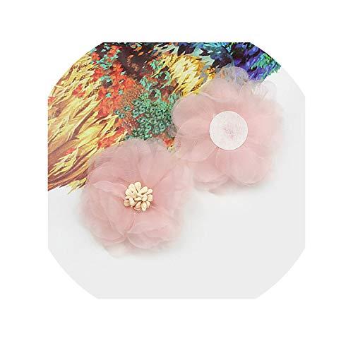 UwiC 10pcs Chiffon Artificial Flower Handmade DIY Fabric Flowers for Wedding Party Craft Home DIY Decoration,Pink ()