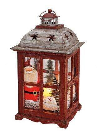 Weihnachtsdeko Große Laterne mit Schneemannmotiv handbemalt 40 cm Weihnachtslaterne Weihnachtsfigur Holzdeko für Weihnachten