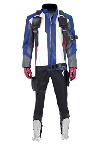 Xiao Maomi Mens Pleather Jacket Halloween Full Set Cosplay Costume (Man-L, Full Set) -