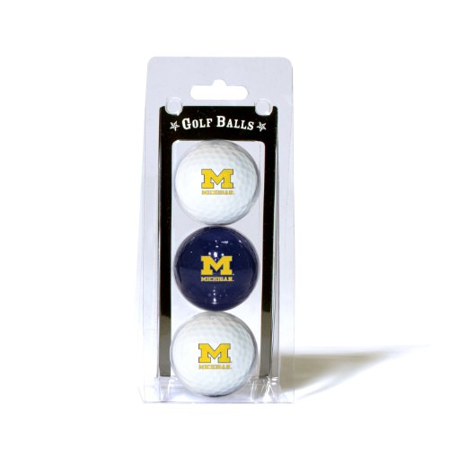 Team Golf NCAA Michigan Wolverines Regulation Size Golf Balls, 3 Pack, Full Color Durable Team Imprint