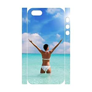 3D Bumper Plastic Customized Case Of Bikini for iPhone 5,5S by supermalls