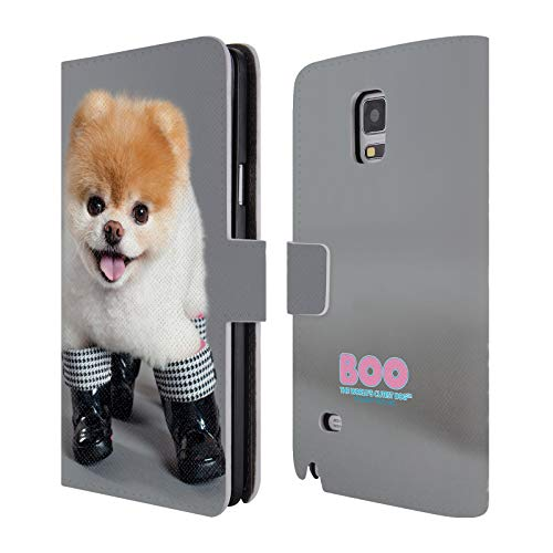 Official Boo-The World's Cutest Dog Boots Portraits Leather Book Wallet Case Cover for Samsung Galaxy Note 4 ()
