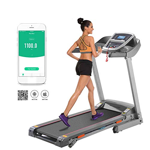 shaofu Electric Folding Treadmill Running Machine for Home Gym Office with Manual Incline (US Stock) (3.0 HP - Gray)