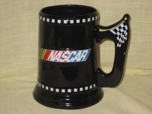 2003 NASCAR Black Checkered Flag 6 Inch Porcelain Tankard Mug