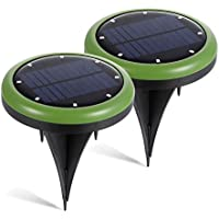 2-Pack Hohoto Wireless LED Waterproof Solar Lights with 8 Led Solar Lights for Front Door, Yard and Garage
