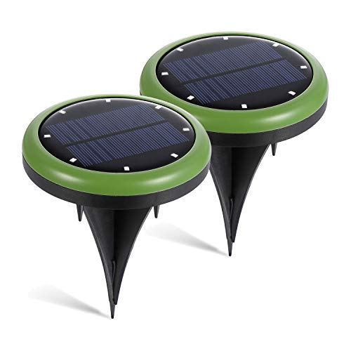 Hohoto LED Solar Lights, Wireless Solar Light, Solar Pathway Lights with 8 Led Solar Lights,IP65 Waterproof, Easy-to-Install Solar Garden Lights for Front Door, Yard and Garage (2 Pack)