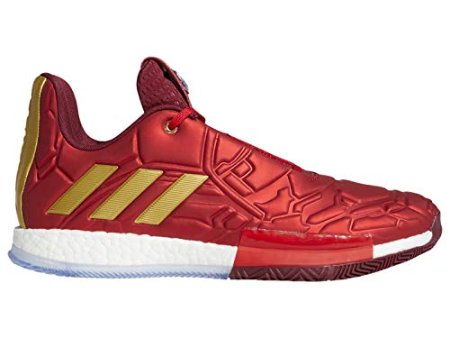 adidas Men's Harden Vol. 3 Marvel Iron Man LTD Synthetic Basketball Shoes 11.5 M US