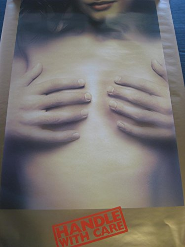 1996 Handle With Care hands covering womans breasts vintage wall poster PBX1416 ()