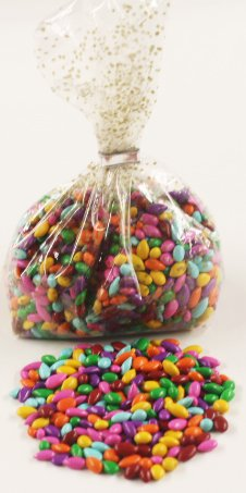 Gold Sunflower Seed - Scott's Cakes Rainbow Colored Mix Chocolate Covered Sunflower Seeds in a 8 oz. Gold & Sliver Confetti Bag
