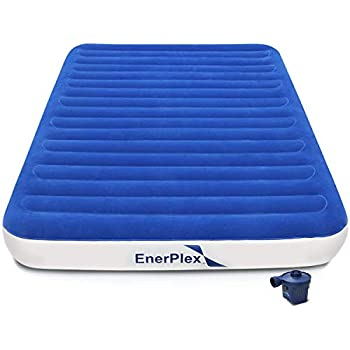 EnerPlex Never Leak Luxury Queen or Twin Size Air Mattress Airbed with Built in Pump or Wireless Pump Raised Double High or Single High Blow Up Bed for Home ...