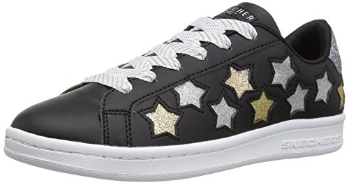 Lil Stars - Skechers Kids Girls' Omne-Lil' Star Side Sneaker,black/multi,1.5 Medium US Little Kid