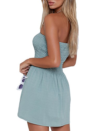 just-quella-Womens-Summer-Cover-Up-Strapless-Dresses-Solid-Tube-Top-Beach-Mini-Dress