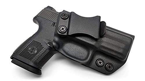 Concealment Express IWB KYDEX Gun Holster, fits: FNH FNS-9 Compact - Custom Molded Fit - US Made - Inside Waistband Concealed Carry Holster - Adj. Cant & Retention (BLK, RH)