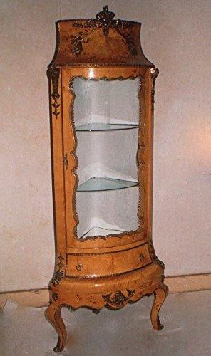 Barock Vitrine Rokoko Antik Stil Schrank Louis XV MoAl0345
