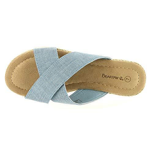 New Sandal Denim Slide Blue Women's Evelyn BEARPAW 10 1xvqp6p