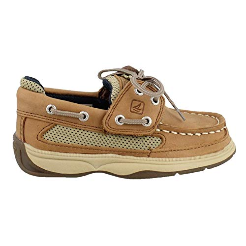 SPERRY Kids Baby Boy's Lanyard A/C (Toddler/Little Kid) Dark Tan/Navy 11.5 M US Little Kid (Sperry Top Sider Boys Billfish Boat Shoes)