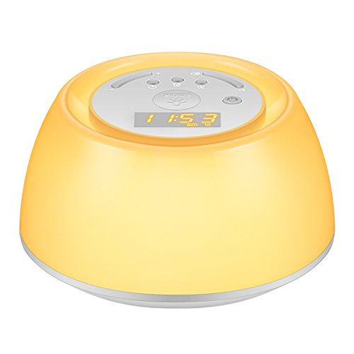 Amir Sleep Therapy Sound Machine   Wake Up Light  4 Soothing Music For Sleep   4 Natural Sounds For Wake Up  Multifunctional Night Light With Rgb Multi Color  3 Level Dimmable Beside Lamp