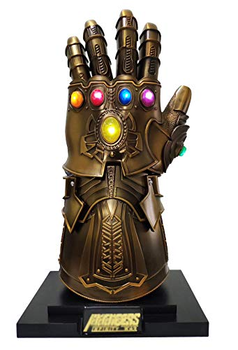Gmasking 2019 Metal Super Villains Cosplay Infinity Gloves Wearable Gauntlet 1:1 Replica Props Gold
