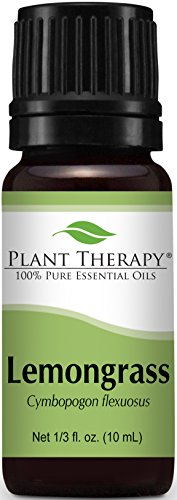 Plant Therapy Lemongrass Essential Oil. 100% Pure, Undiluted, Therapeutic Grade. 10 ml (1/3 oz).