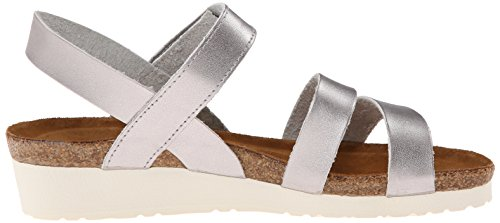 NAOT Women's Kayla Wedge Sandal Silver free shipping supply clearance fashionable amazon cheap price sale with paypal clearance buy Afl9FpFc1