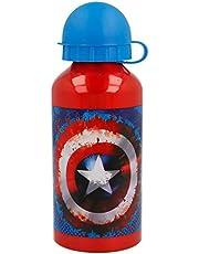 Stor Aluminium fles, 400 ml, Capitan America Icon