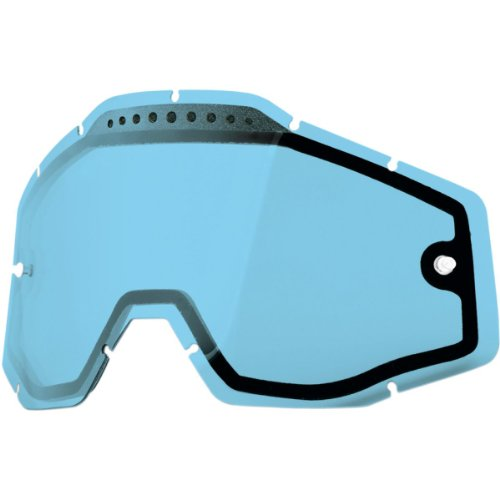 100% Dual Vented Lens for Racecraft/Accuri Goggles Blue 51006-002-02