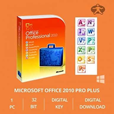 Microsoft Office Professional plus 2010 OEM Key 32/64 Bit - Original Lizenz Vollversion - NEU
