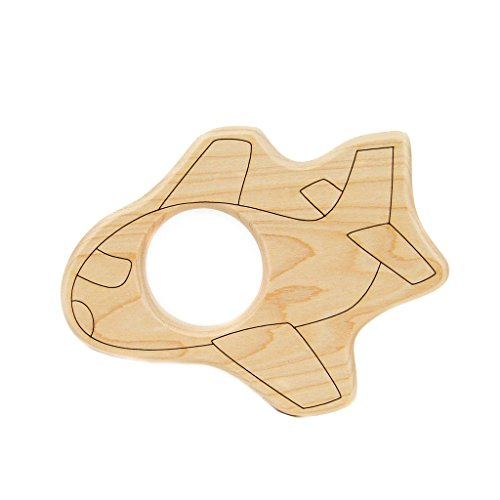 Airplane Pacifier - Little Sapling Toys Baby Teether Wooden Airplane