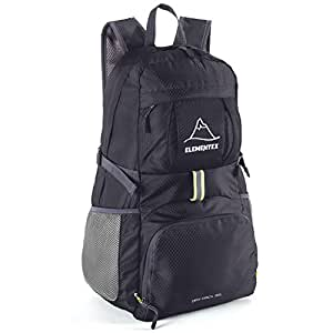 ELEMENTEX Foldable Hiking Backpack - Black