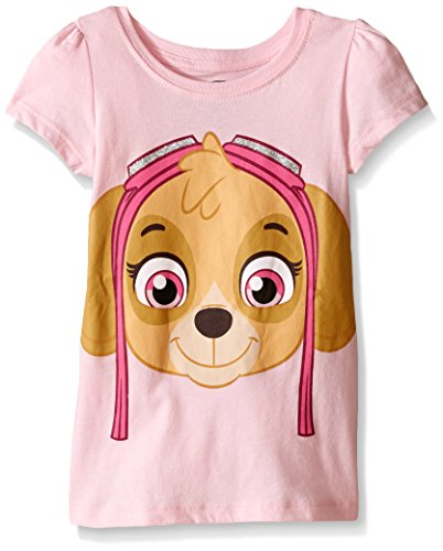 Paw Patrol  Girls' Short Sleeve T-Shirt Shirt, Pink Skye, 4T,Toddler Girls