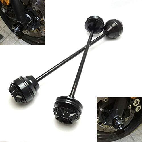 MZS Axle Sliders Fork Cap Crash Protector Front Rear Wheel compatible Yamaha FZ-09 FZ09 MT-09 MT09 2014-2018/ FJ-09 2015-2017/ XSR900 2016-2018 - Rear Axle Sliders
