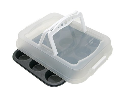 ProBake Teflon Xtra Non-Stick 12-Cup Muffin Pan with Matching Lid with Handles, ()