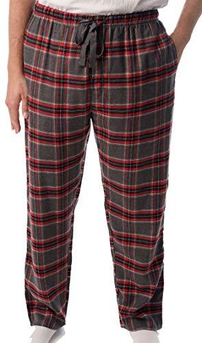 #followme Mens Flannel Pajama Pants 45905-4, Charcoal - Plaid, X-Large