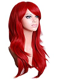 ArRord Long Hair Curls Cosplay Wigs Party Wig Multicolor Available Red