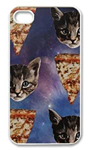Kitten Pizza Galaxy Case for Iphone 4/4s Luckyshopping