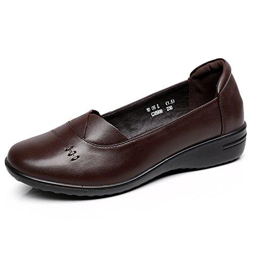Otoño zapatos planos/Zapatos de cabeza/ zapatos de suela suave grandes/ zapatos asakuchi madre A