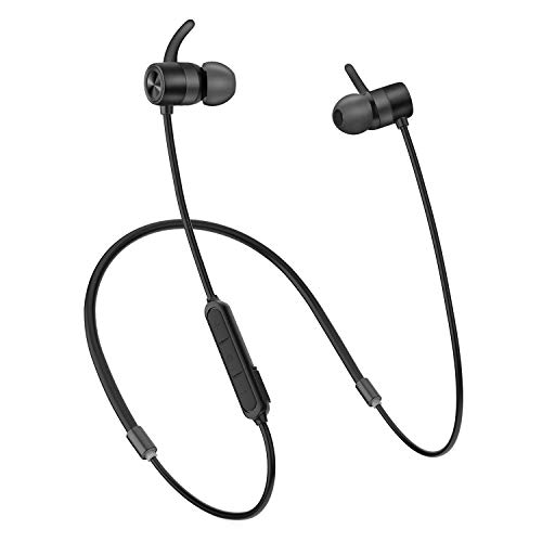Bluetooth Headphones, LETSCOM Wireless Magnetic Earphones Bluetooth 5.0, HD Bass Stereo, Sweat Resistant, Built-in Mic in Ear Earbuds with 12 Hours Playtime for Running, Sports, Workout, Gym