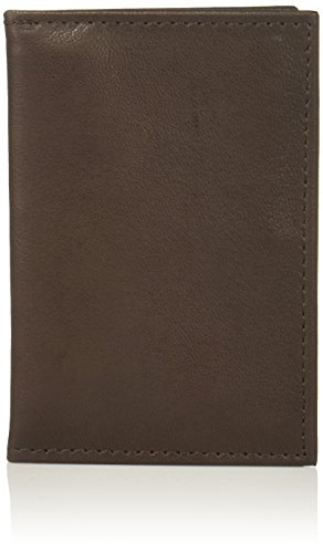 Buxton Men's Mountaineer Leather I.d. Card Case, Brown, One Size (Buxton Mountaineer Credit Card Billfold)
