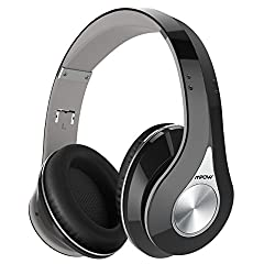 Mpow 059 Bluetooth Headphones Over Ear, Hi-fi Stereo Wireless Headset, Foldable, Soft Memory-protein Earmuffs, W Built-in Mic & Wired Mode For Pc Cell Phones Tv