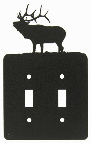 - Solitary Elk Double Light Switch Plate Cover