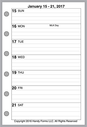 2017 Weekly & Monthly Planner for pocket size notebooks b...