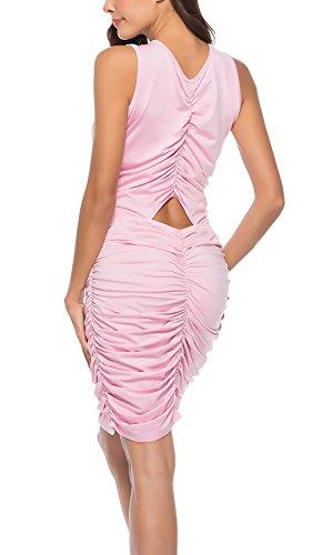 Smanicato Hollow Pacchetto Fashion Vestito V Ragazza Promenade Dell anca  Collo Da Del Unico Donna Party Elegante Abbigliamento Sera Corto Vestiti ... 18841a37139