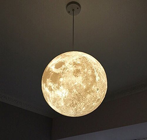 Kungken lighting chandelier led 3d printing moon lamp warm and cool kungken lighting chandelier led 3d printing moon lamp warm and cool light for kitchen restaurant cafe aloadofball Image collections