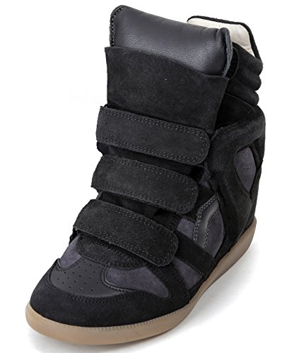 isabel-marant-womens-velcro-snap-high-top-leather-sneakers-37-anthracite
